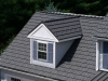 Dormer with Rustic Aluminum Metal Shingle Roofing