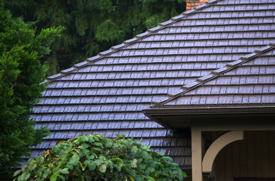 Brown Rustic Aluminum Metal Shingle Roofing 02