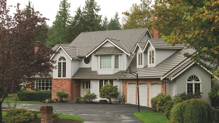 Gray Rustic Aluminum Metal Shingle Roofing