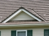 Zoomed in View of Rustic Aluminum Metal Shingle Roofing