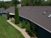 View from Above of Rustic Aluminum Metal Shingle Roofing