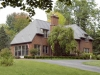 Beautiful Brick Home with Rustic Aluminum Metal Shingle Roofing
