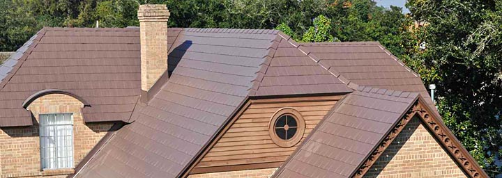 Brown Steel Shingle Roof